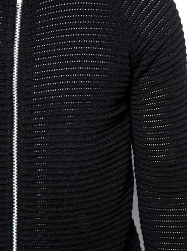 Bomber with Perforated Texture