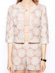 Blazer in Pastel Lace