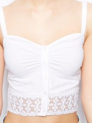 New Look Button Front Bralet