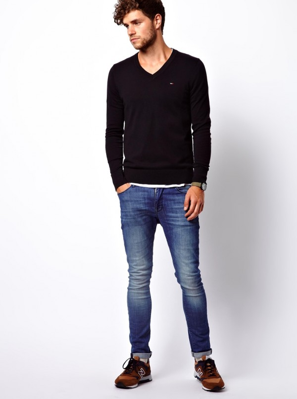 Hilfiger Denim Jumper with V Neck