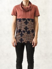 Hooded Ethnic Printed T-Shirt