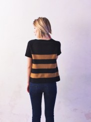 Pale Brown/Black Striped Sweatshirt