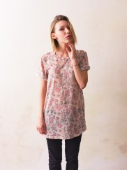 Flower Pattern Long T-Shirt