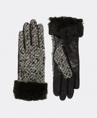 Ursula Faux Fur Trim Gloves