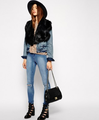 Faux Fur Lapel Collar